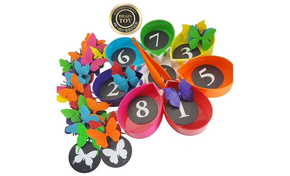 Butterfly Garden is a great Montessori toy for summer butterfly catching