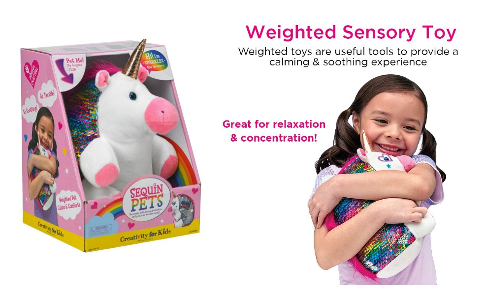 This weighted pet is great for kids with sensory needs!
