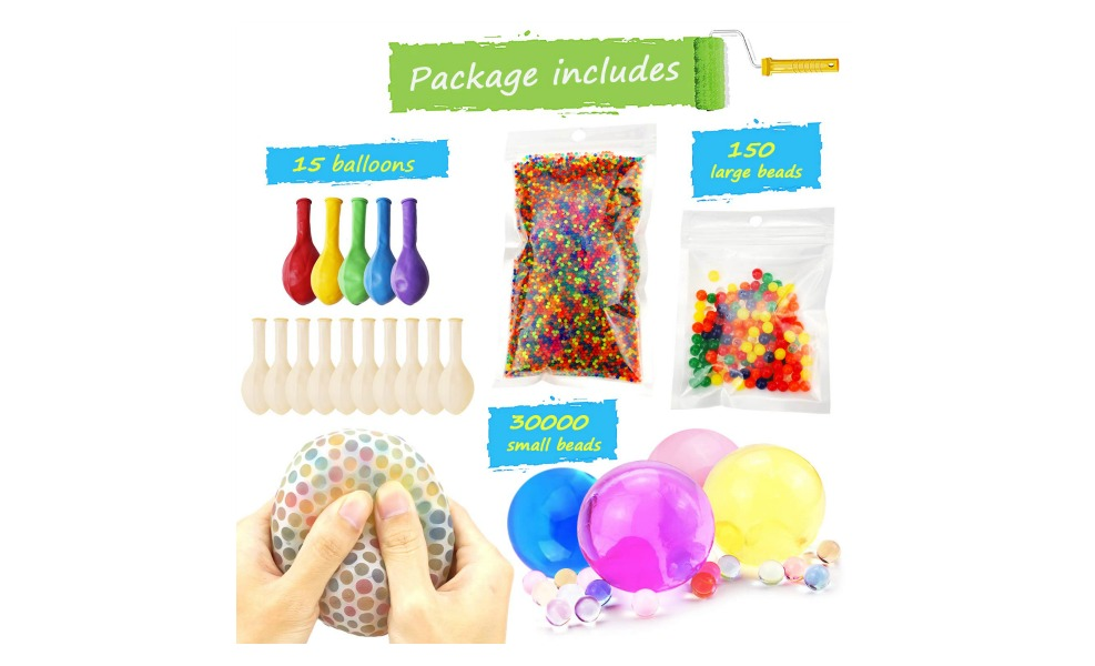 These sensory beads are great sensory toys for kids