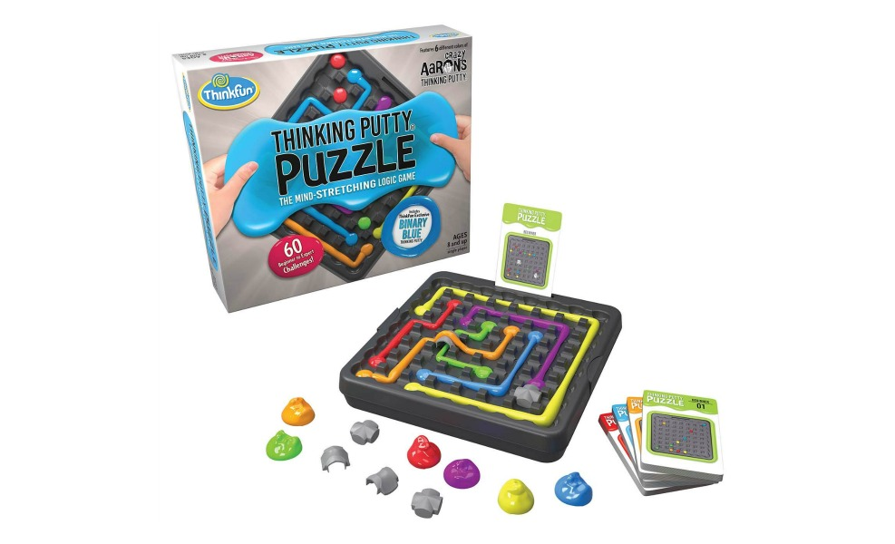 THinking putty game is a great sensory toy