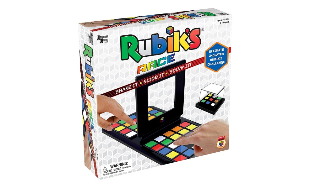 Rubik's Race is a fun low-tech game