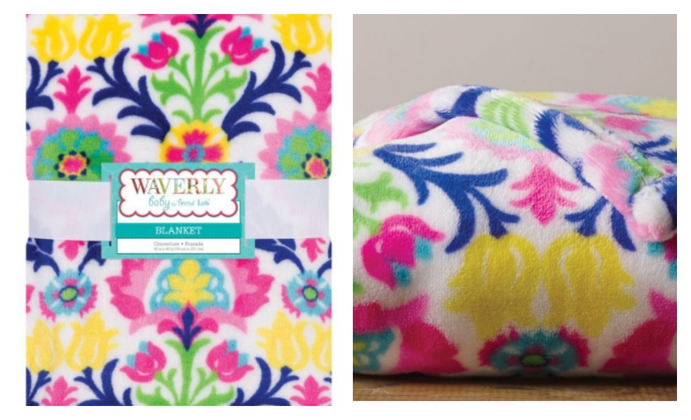 This Trend Lab Maria Blanket is plush and colorful