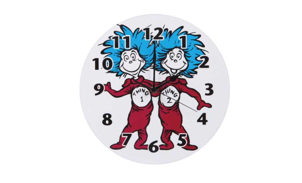 This Trend Lab Wall clock is sure to have you telling time in a fun way!