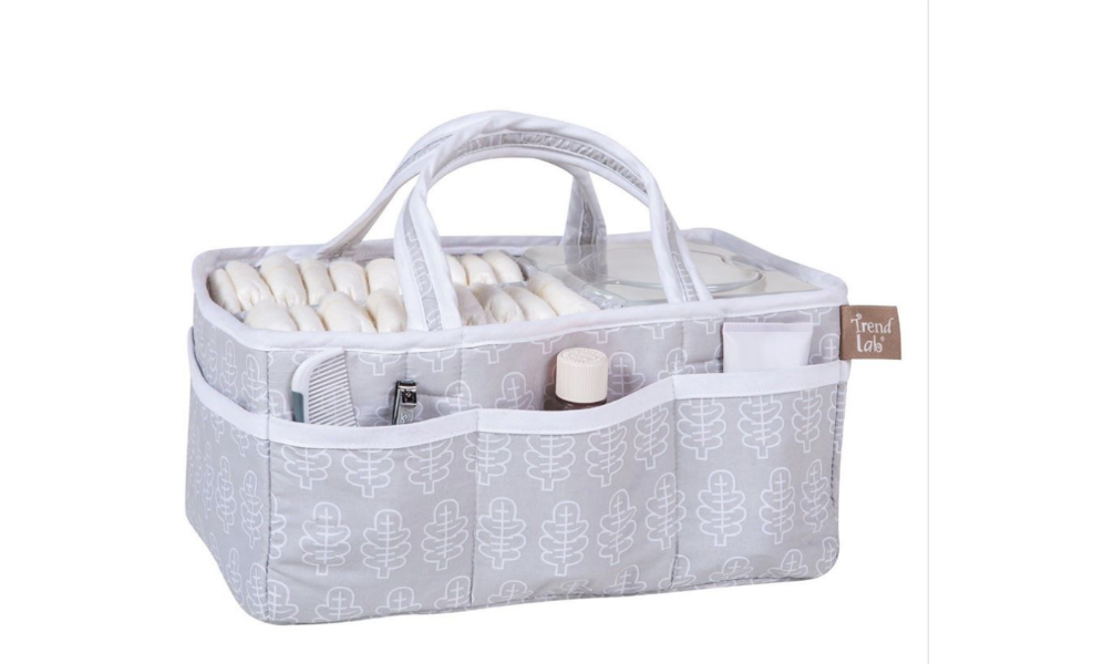 This Trend Lab diaper caddy makes diaper changes a breeze!