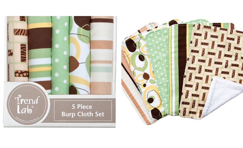 This gender neutral burp cloth set makes a great shower gift!