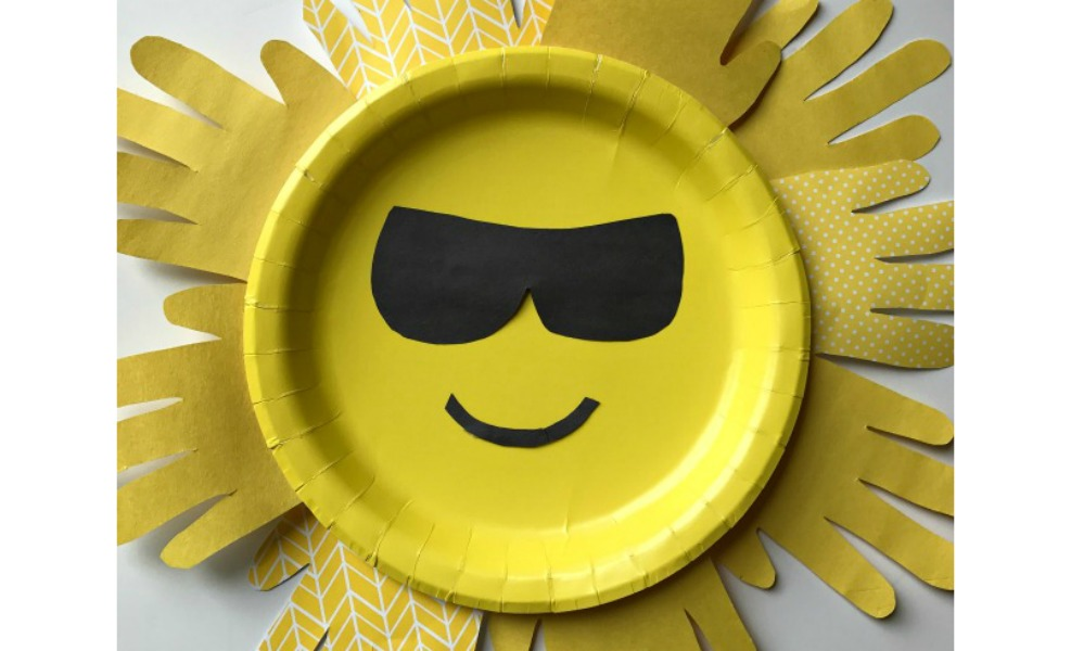A fun sunshine handprint craft makes everyone happy during Smile Week!