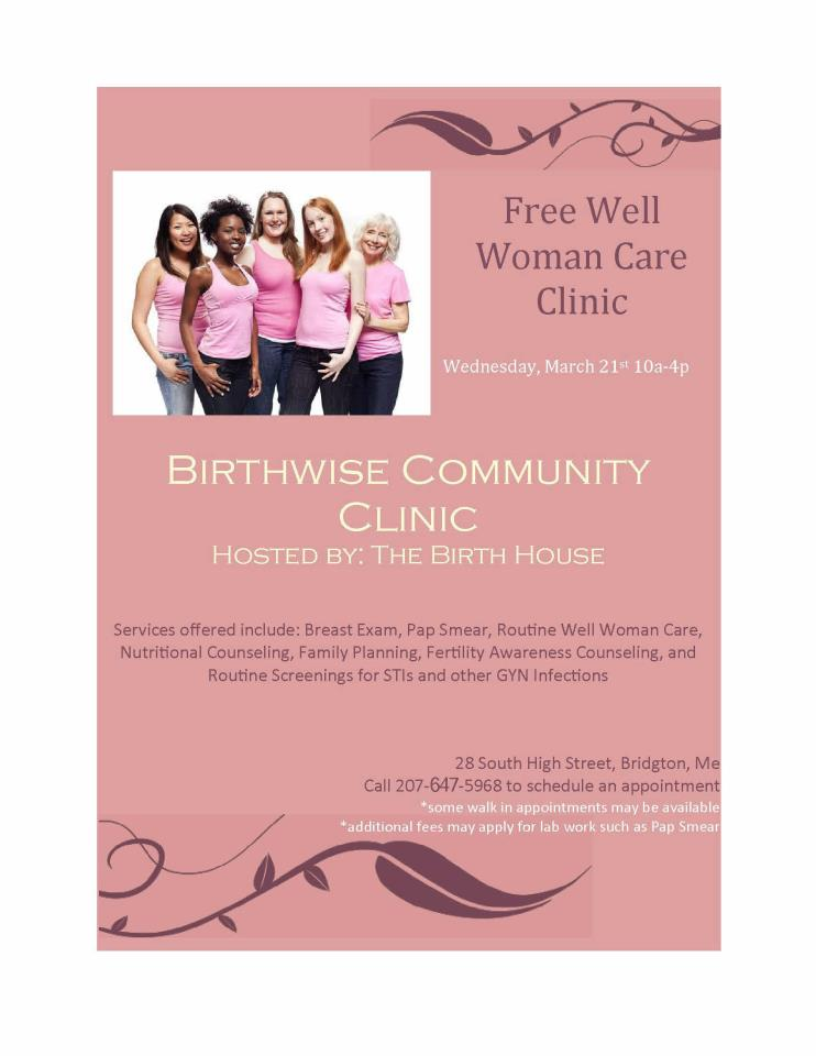 well woman clinic 3/21