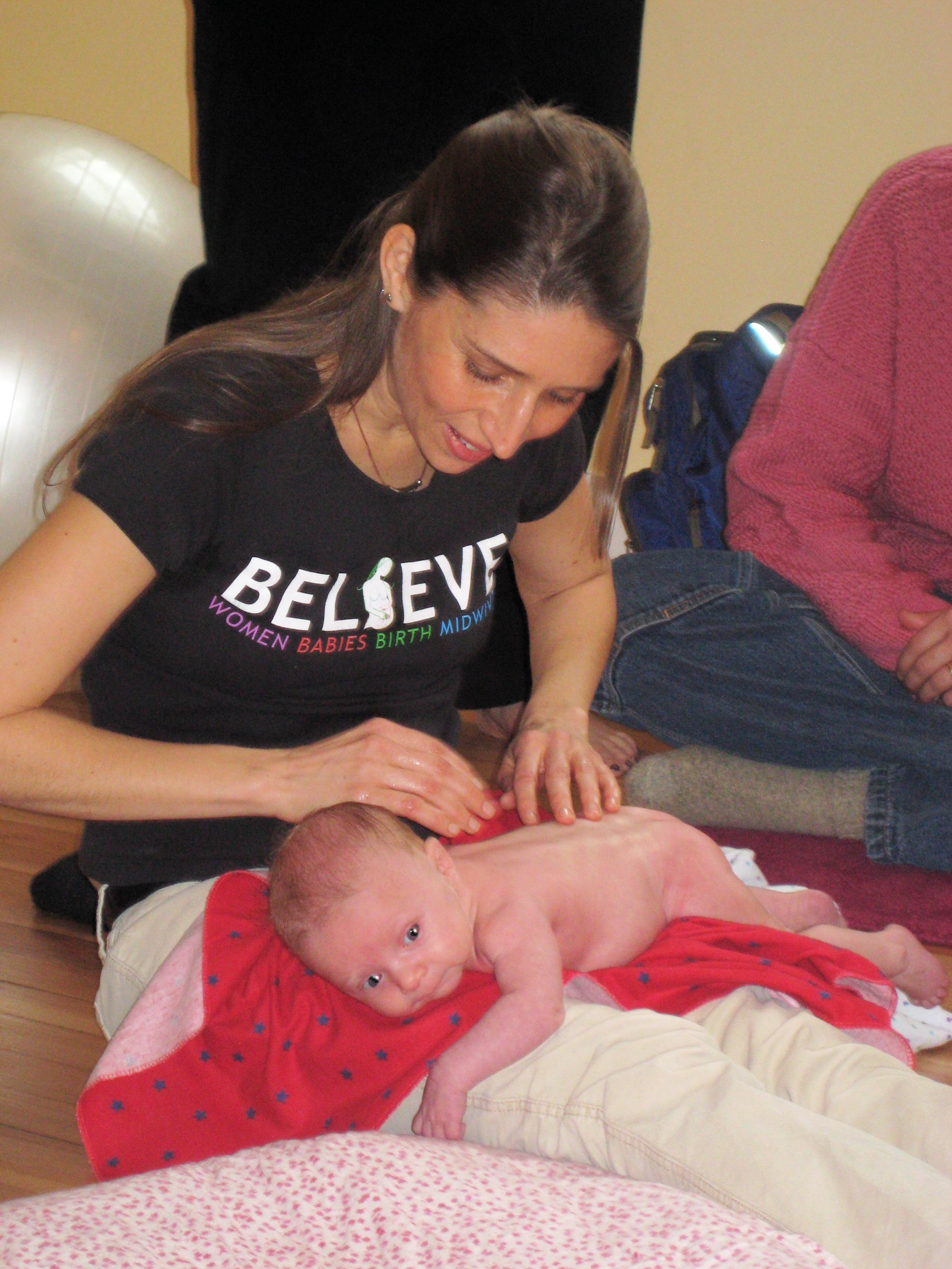 baby massage postnatal workshop