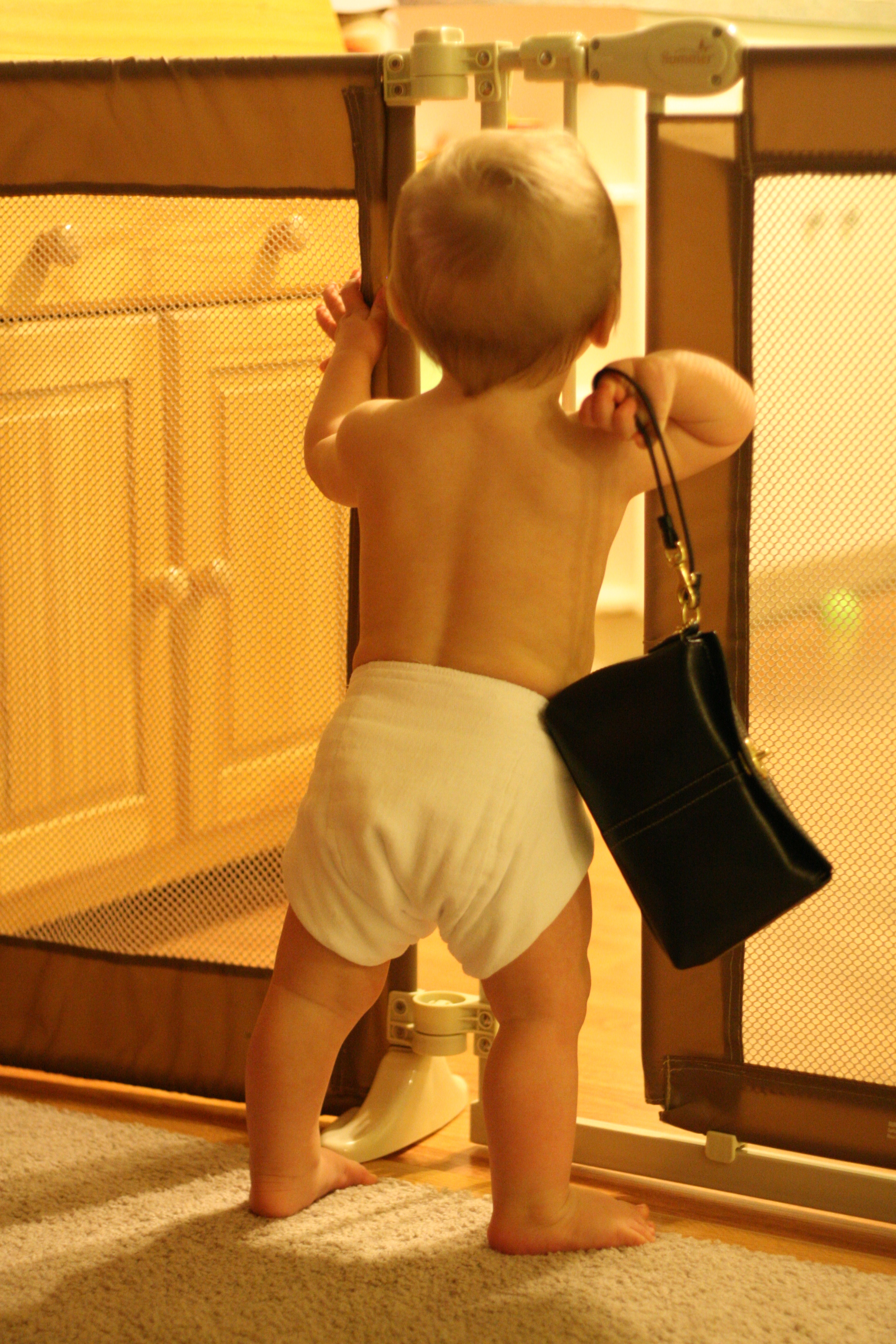 with mommy's purse